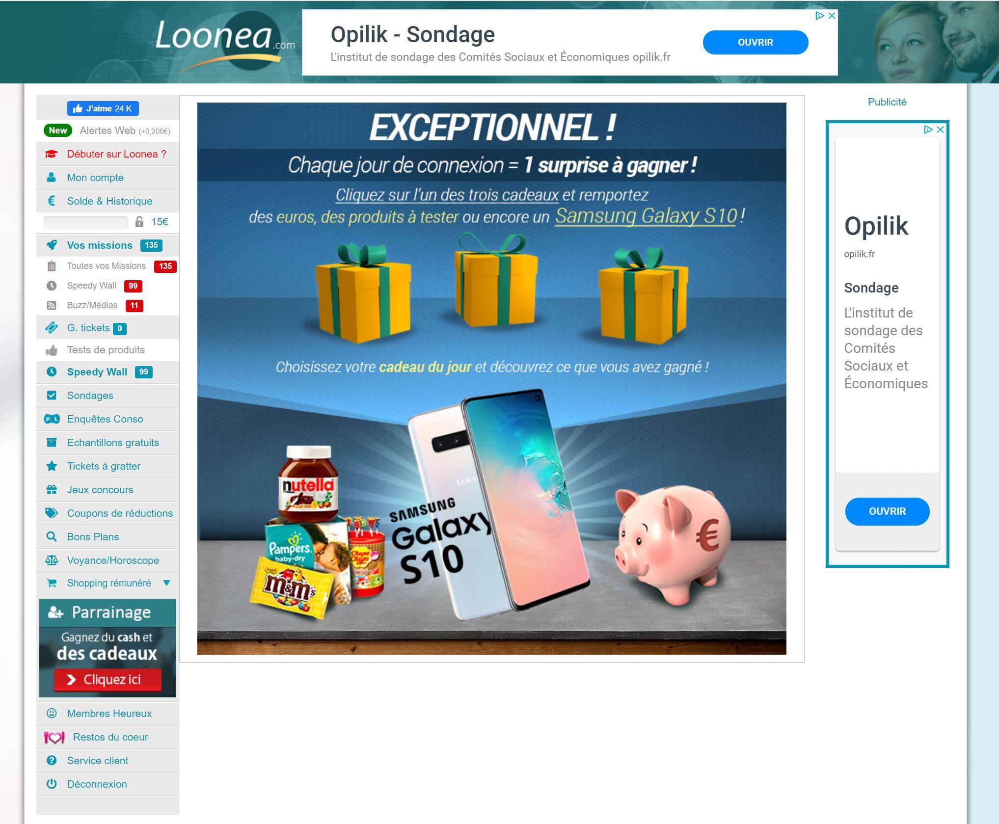 ouvrir un compte sur loonea