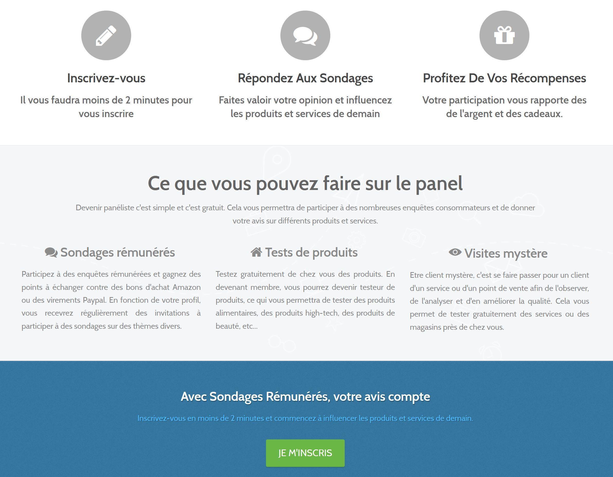 le fonctionnement de sondagesremuneres.fr