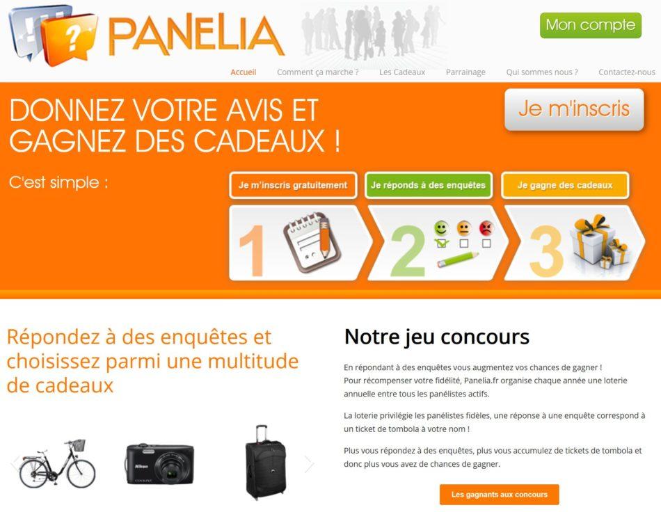 site de sondage panelia.fr