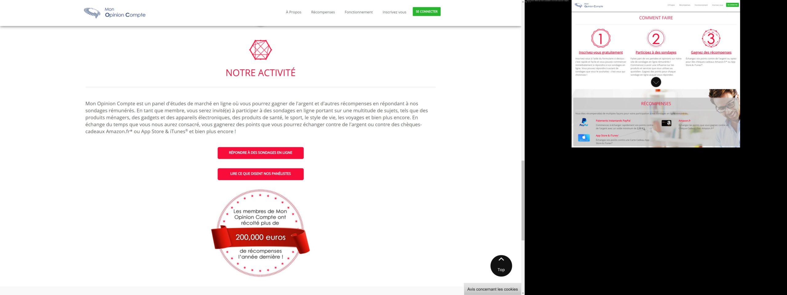 avis sur le site monopinioncompte.fr et ses sondages